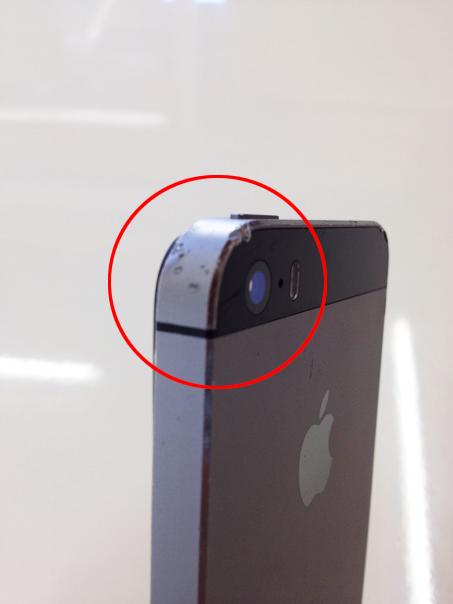 iPhone本体 側面 傷