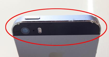 iPhone本体 背面 傷